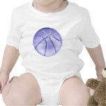 Baloncesto azul trajes de bebé