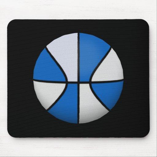 Baloncesto azul y blanco: Mousepad