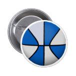 Baloncesto azul y blanco: pin
