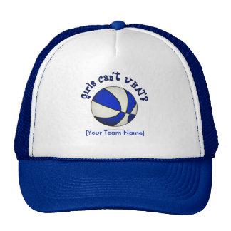 Baloncesto - blanco/azul gorro de camionero