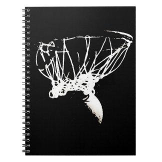 Baloncesto blanco negro del arte pop notebook