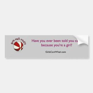Baloncesto - blanco/rojo pegatina de parachoque
