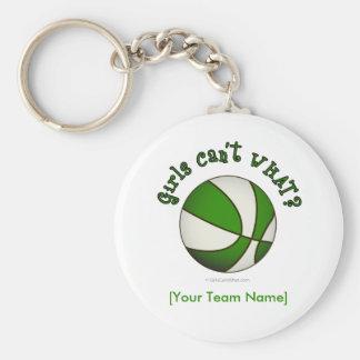 Baloncesto - blanco verde llaveros