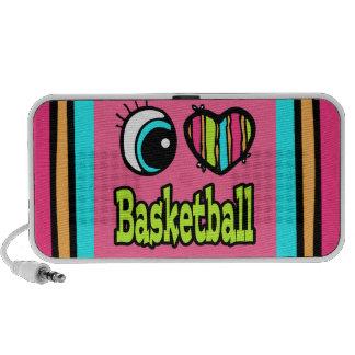 Baloncesto brillante del amor del corazón I del oj iPod Altavoz