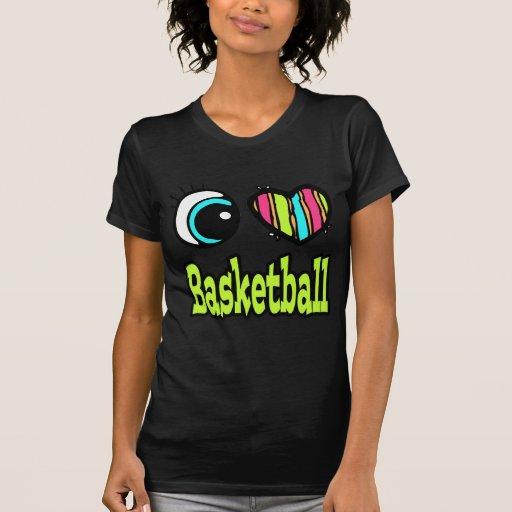Baloncesto brillante del amor del corazón I del Camiseta