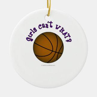 Baloncesto - Brown/púrpura Ornaments Para Arbol De Navidad