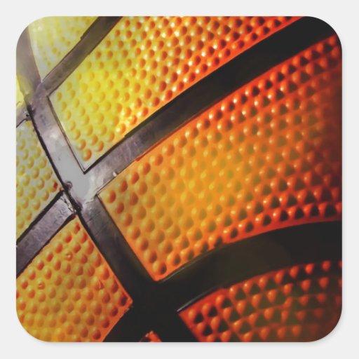 Baloncesto Calcomania Cuadradas