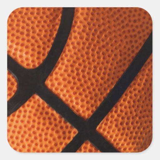 Baloncesto Calcomanía Cuadradase