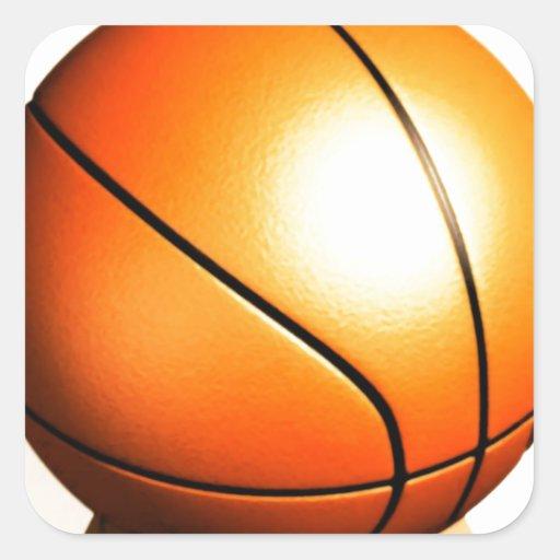 Baloncesto Calcomanías Cuadradass Personalizadas