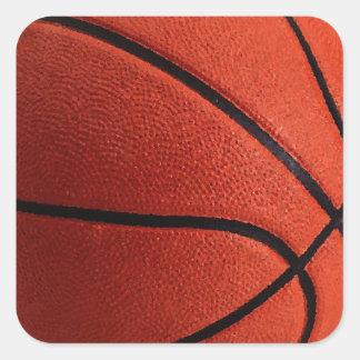 Baloncesto caliente de moda pegatina cuadrada