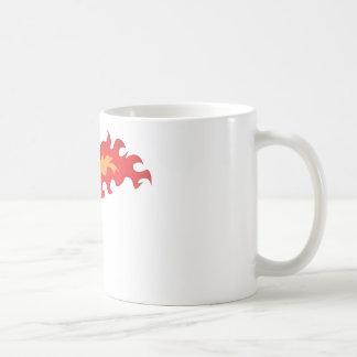 Baloncesto candente taza de café