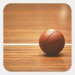 Baloncesto Colcomanias Cuadradas Personalizadas
