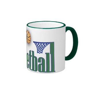 Baloncesto con la red de la bola n taza de dos colores