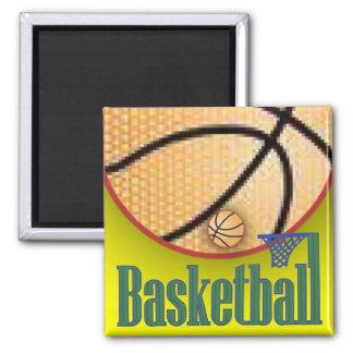 Baloncesto con la red imán cuadrado