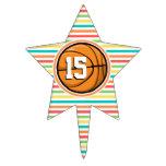 Baloncesto con número; Rayas brillantes del arco Palillos De Tarta