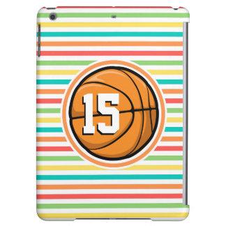 Baloncesto con número; Rayas brillantes del arco