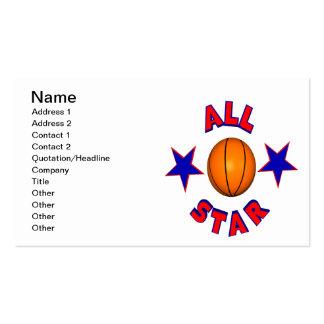 Baloncesto de All Star Tarjetas De Visita
