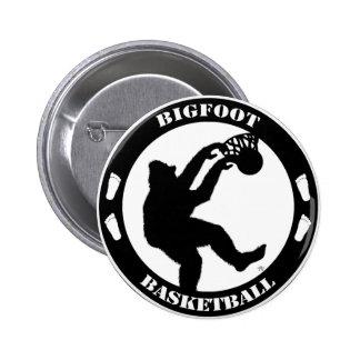 Baloncesto de Bigfoot Pin Redondo De 2 Pulgadas