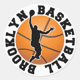 Baloncesto de Brooklyn Pegatina Redonda