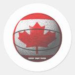 Baloncesto de Canadá Etiquetas Redondas