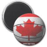 Baloncesto de Canadá Imán Para Frigorífico