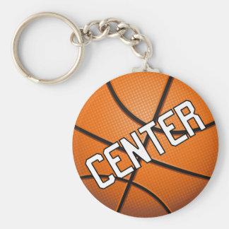 Baloncesto de centro llavero redondo tipo pin