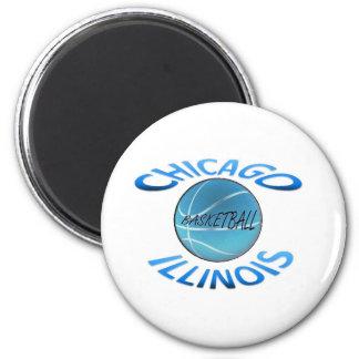 Baloncesto de Chicago Illinois Imán Redondo 5 Cm