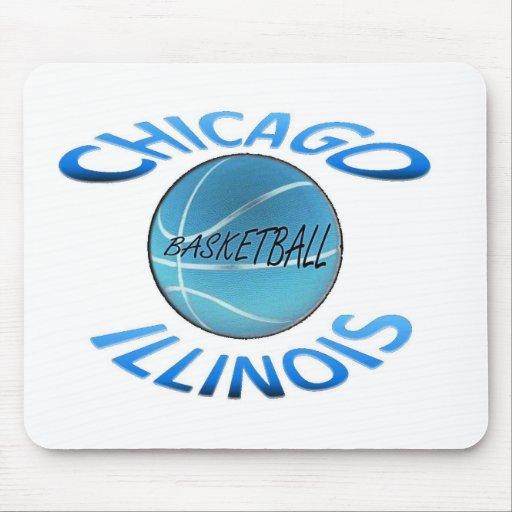 Baloncesto de Chicago Illinois Tapetes De Ratones