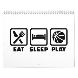 Baloncesto de Eat Sleep Play Calendario