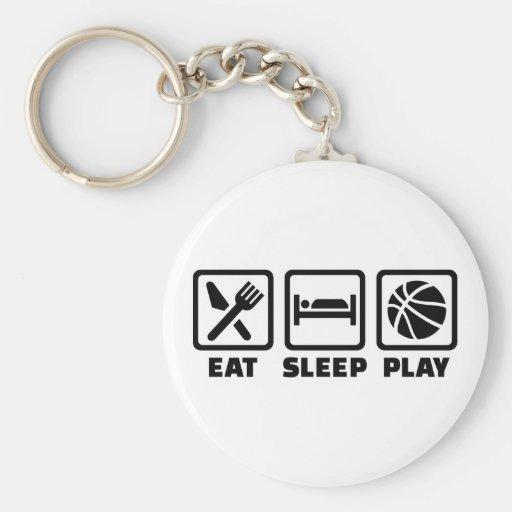 Baloncesto de Eat Sleep Play Llavero