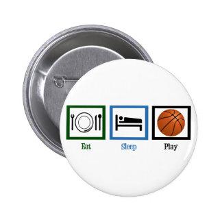 Baloncesto de Eat Sleep Play Pin Redondo 5 Cm