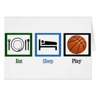 Baloncesto de Eat Sleep Play Tarjeta De Felicitación