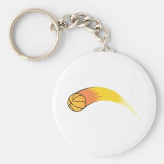 Baloncesto de enfoque llavero redondo tipo pin