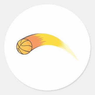 Baloncesto de enfoque pegatina redonda