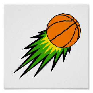Baloncesto de estallido póster