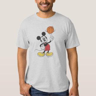 Baloncesto de giro deportivo de Mickey el | Poleras