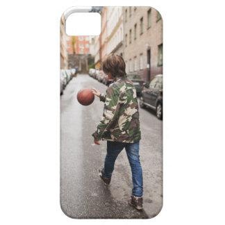 Baloncesto de goteo del adolescente funda para iPhone SE/5/5s