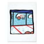 Baloncesto de la arcada invitación 12,7 x 17,8 cm