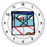 Baloncesto de la arcada reloj de pared