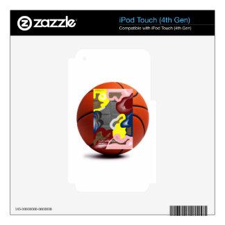 Baloncesto de la armadura calcomanía para iPod touch 4G