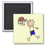 Baloncesto de la clavada - camisetas y regalos imán de frigorífico