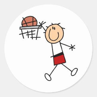 Baloncesto de la clavada - camisetas y regalos pegatina redonda