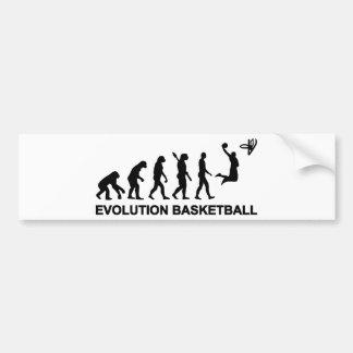 Baloncesto de la evolución pegatina de parachoque