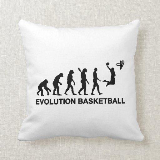 Baloncesto de la evolución cojines