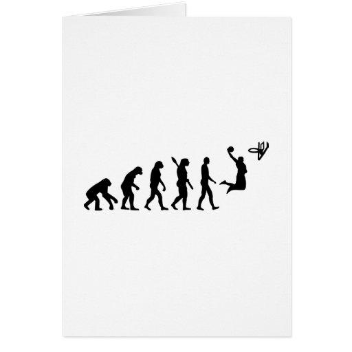 Baloncesto de la evolución felicitación