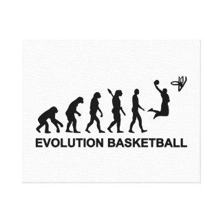 Baloncesto de la evolución impresión en lienzo estirada