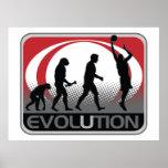 Baloncesto de la evolución poster