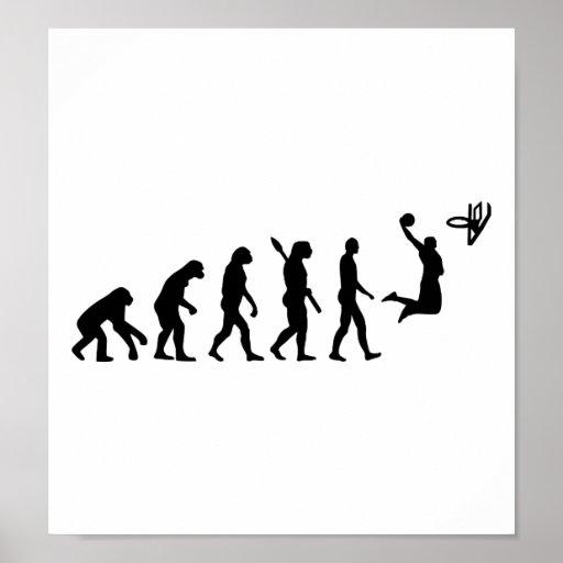 Baloncesto de la evolución póster