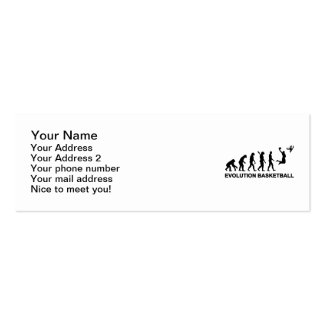Baloncesto de la evolución tarjeta de visita