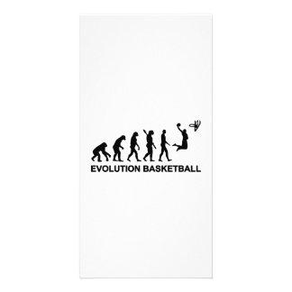 Baloncesto de la evolución tarjetas fotograficas personalizadas